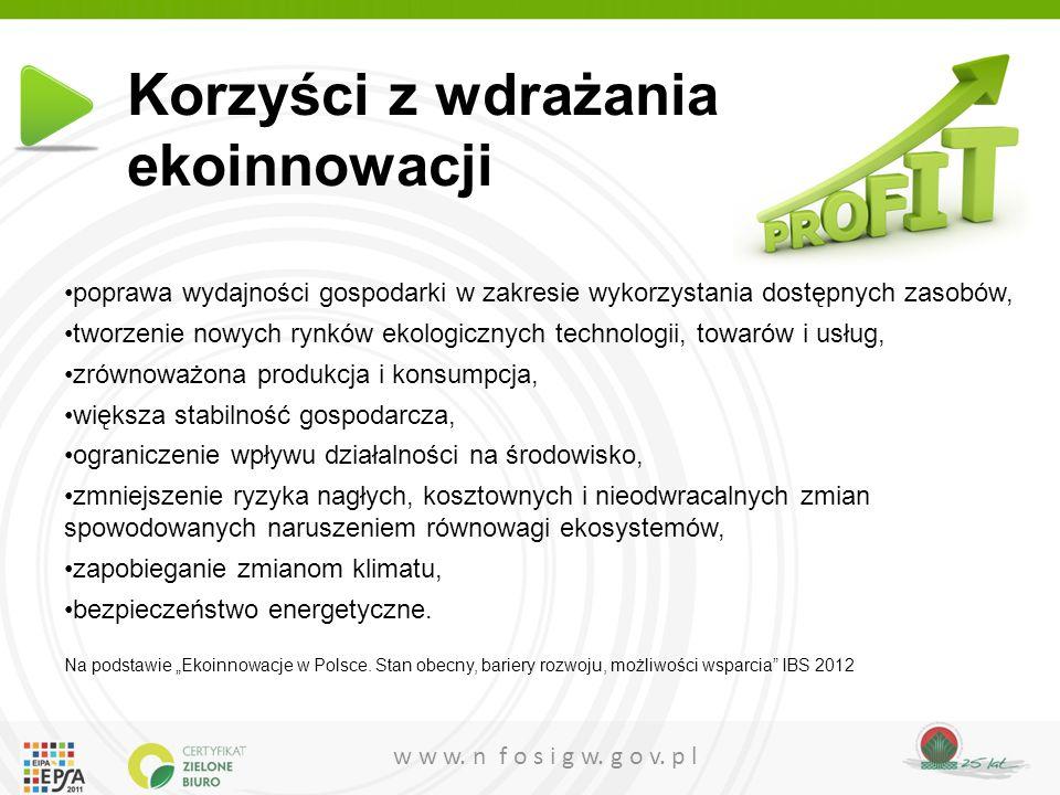 Korzyści z wdrażania ekoinnowacji
