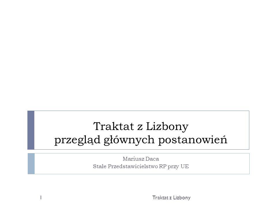 Traktat z Lizbony przegląd głównych postanowień