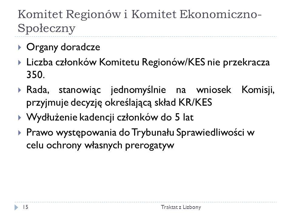 Komitet Regionów i Komitet Ekonomiczno-Społeczny