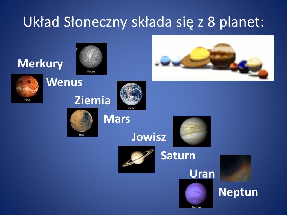 Układ Słoneczny składa się z 8 planet: