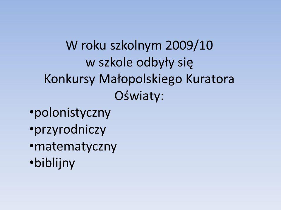 Konkursy Małopolskiego Kuratora Oświaty: