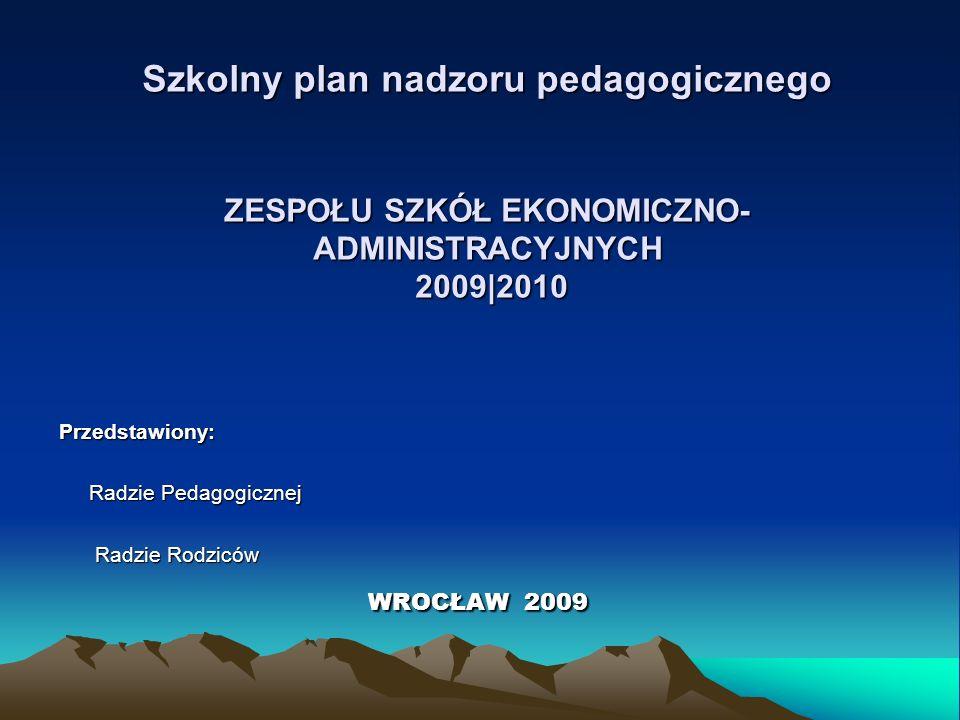 Przedstawiony: Radzie Pedagogicznej Radzie Rodziców