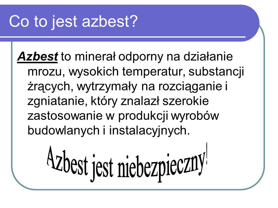 Azbest jest niebezpieczny!