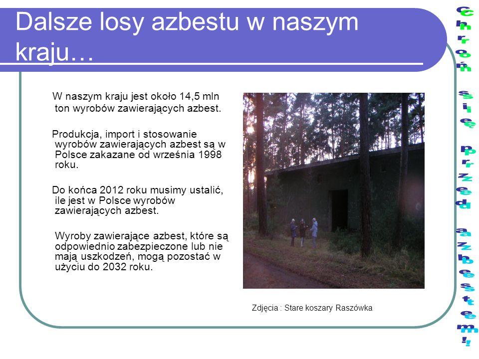 Dalsze losy azbestu w naszym kraju…