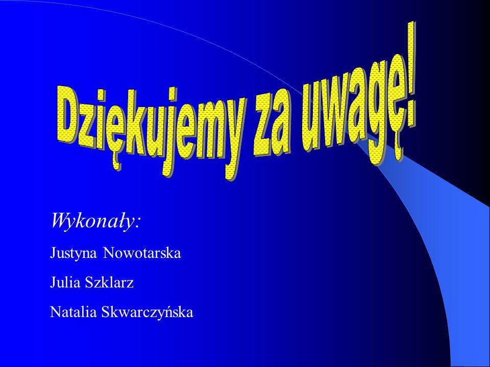 Dziękujemy za uwagę! Wykonały: Justyna Nowotarska Julia Szklarz