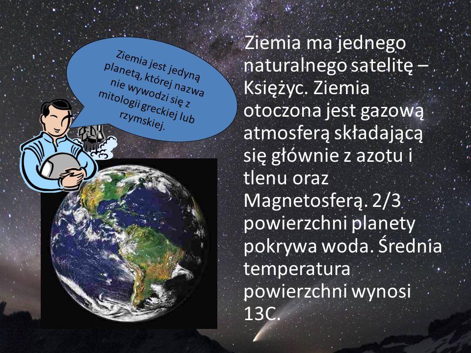 Ziemia ma jednego naturalnego satelitę – Księżyc