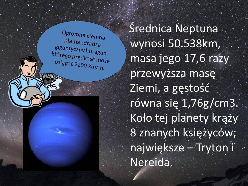 Średnica Neptuna wynosi 50