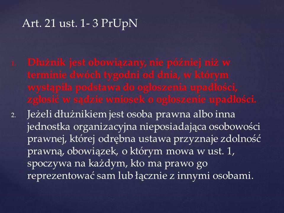 Art. 21 ust. 1- 3 PrUpN