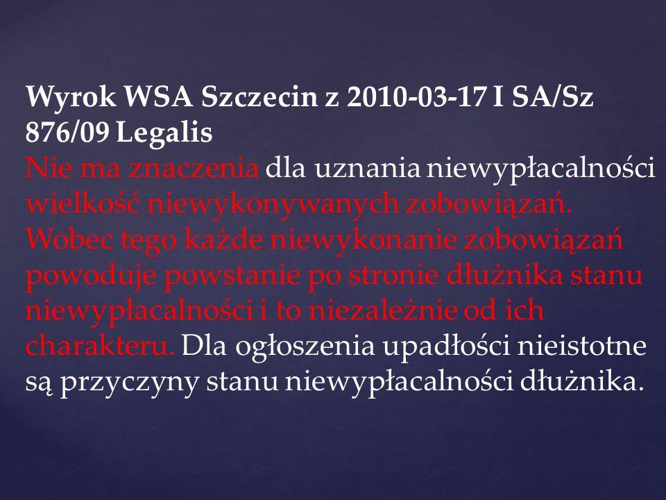 Wyrok WSA Szczecin z 2010-03-17 I SA/Sz 876/09 Legalis