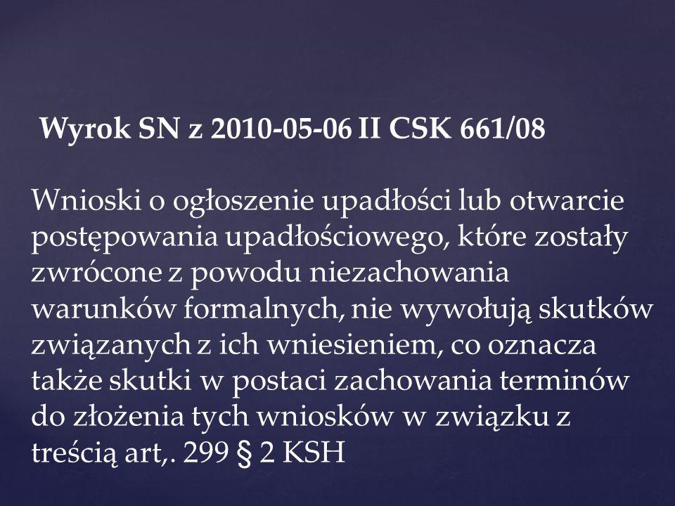 Wyrok SN z 2010-05-06 II CSK 661/08