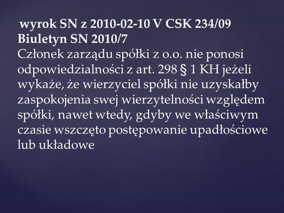 wyrok SN z 2010-02-10 V CSK 234/09 Biuletyn SN 2010/7