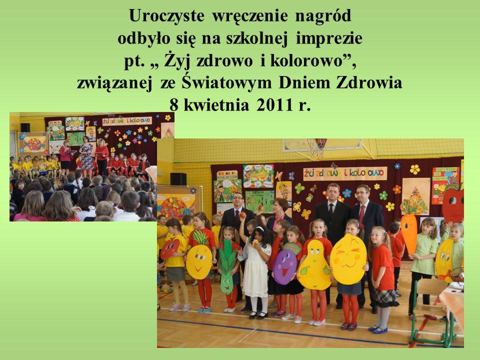 Uroczyste wręczenie nagród odbyło się na szkolnej imprezie pt