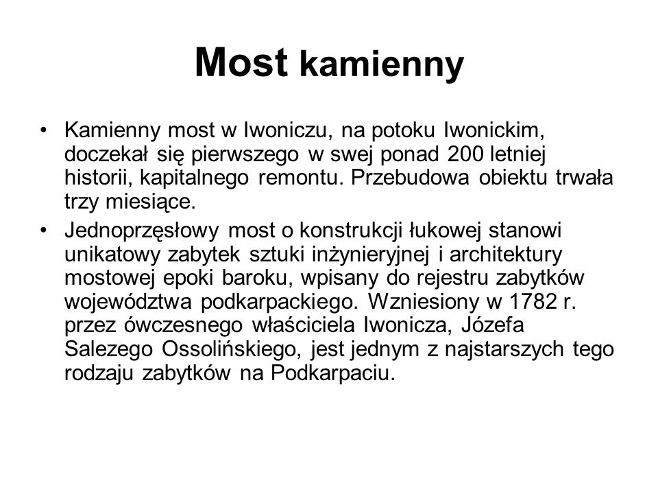 Most kamienny