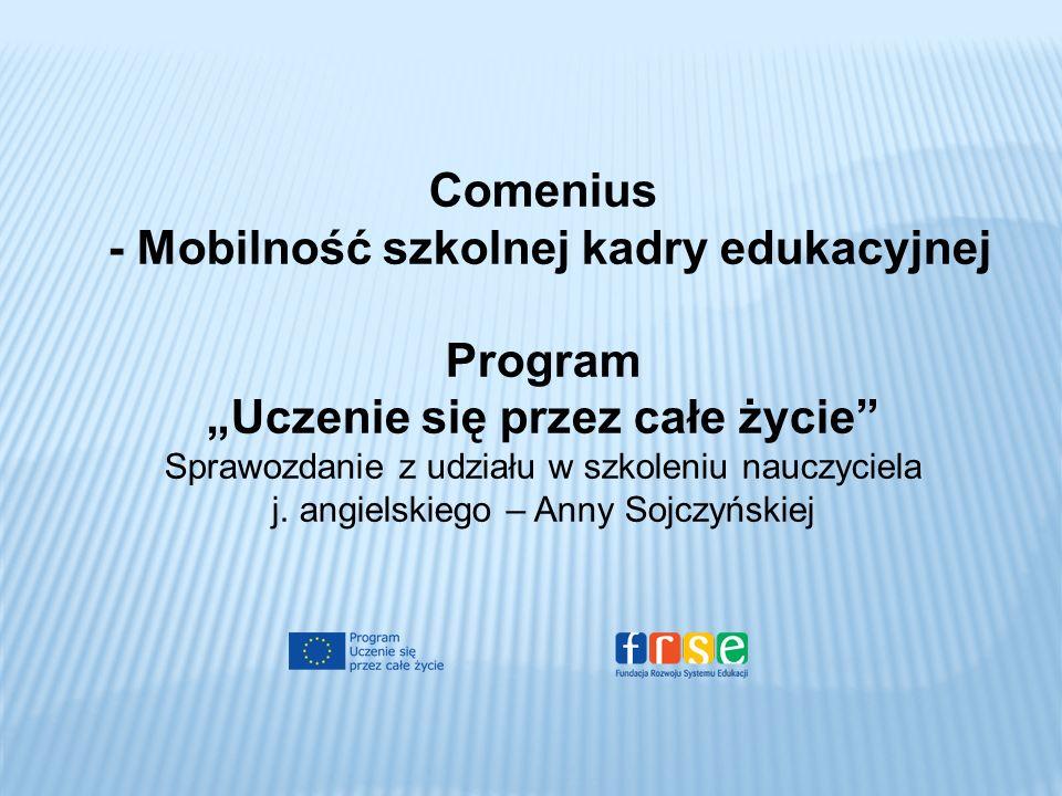 - Mobilność szkolnej kadry edukacyjnej Program