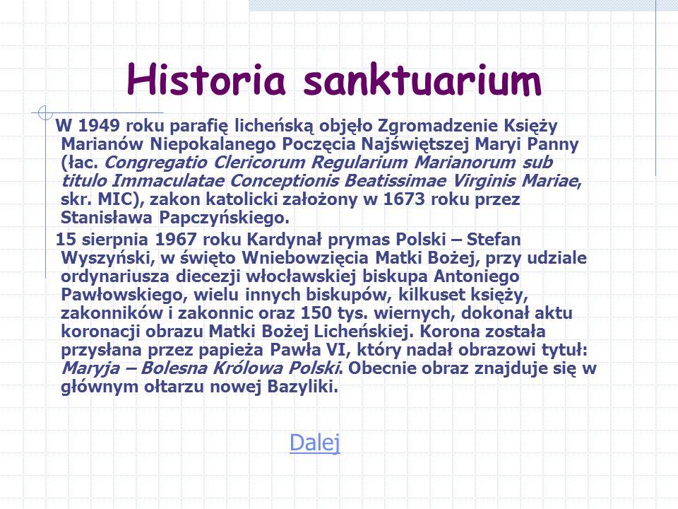 Historia sanktuarium Dalej