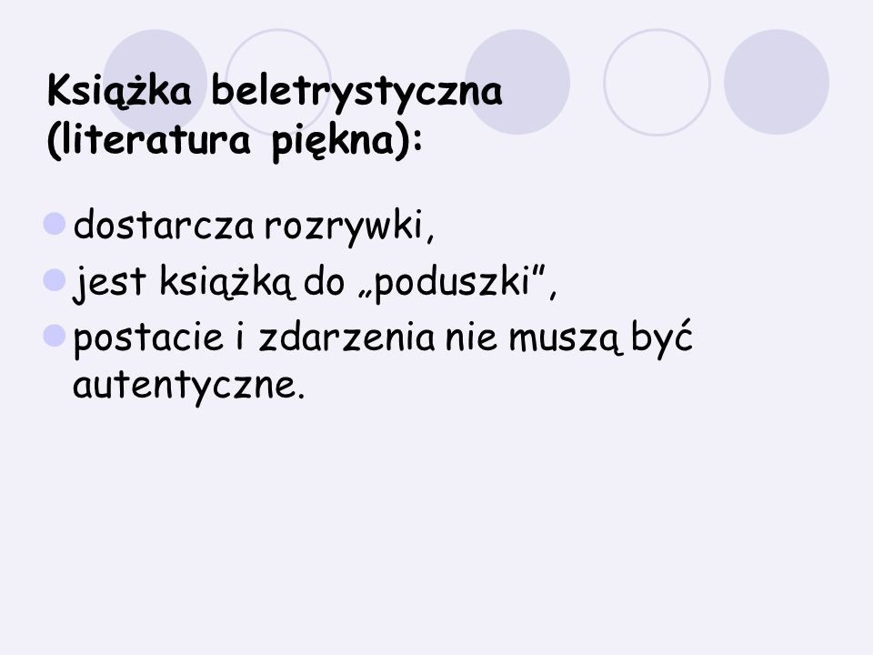 Książka beletrystyczna (literatura piękna):