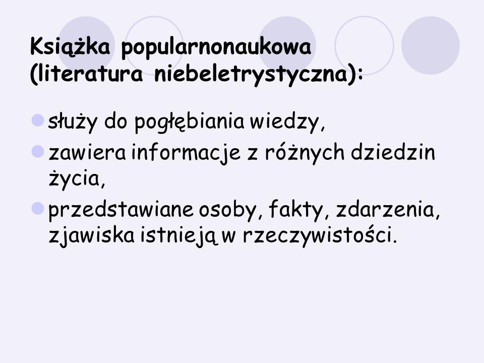 Książka popularnonaukowa (literatura niebeletrystyczna):