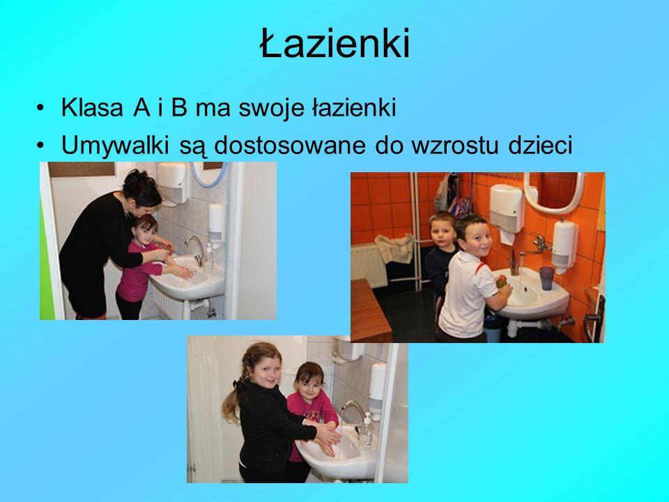 Łazienki Klasa A i B ma swoje łazienki