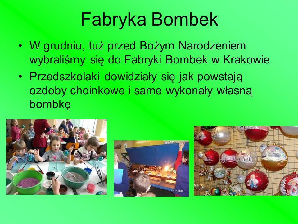 Fabryka BombekW grudniu, tuż przed Bożym Narodzeniem wybraliśmy się do Fabryki Bombek w Krakowie.