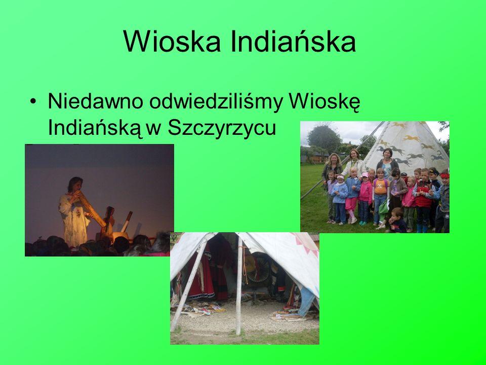 Wioska Indiańska Niedawno odwiedziliśmy Wioskę Indiańską w Szczyrzycu