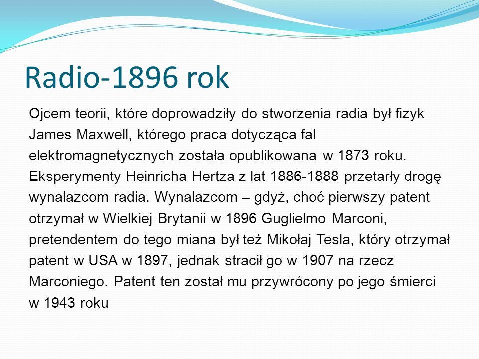 Radio-1896 rok