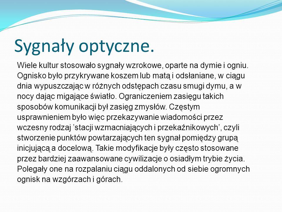 Sygnały optyczne.