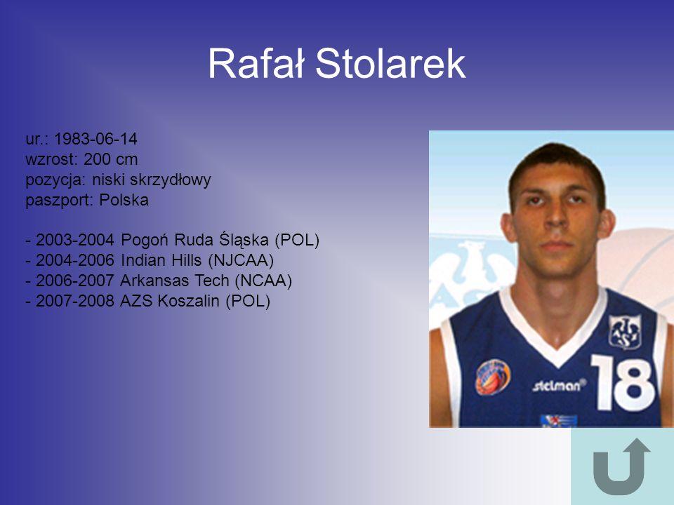 Rafał Stolarek ur.: 1983-06-14 wzrost: 200 cm