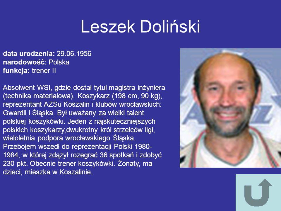 Leszek Doliński data urodzenia: 29.06.1956 narodowość: Polska