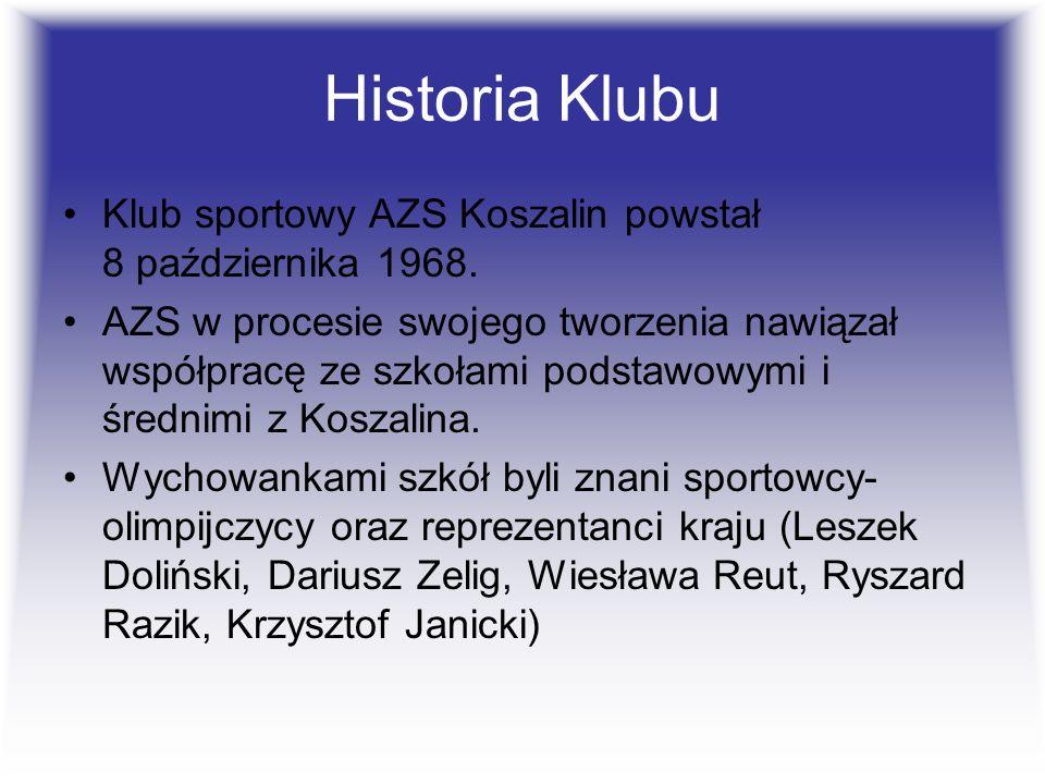 Historia Klubu Klub sportowy AZS Koszalin powstał 8 października 1968.