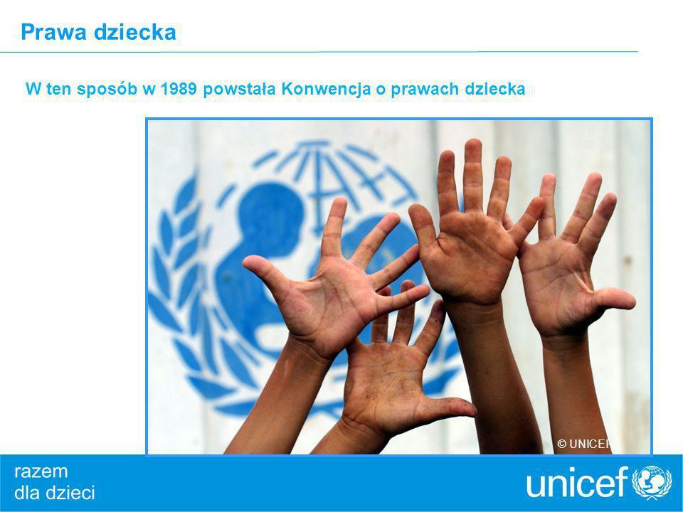 Prawa dziecka W ten sposób w 1989 powstała Konwencja o prawach dziecka