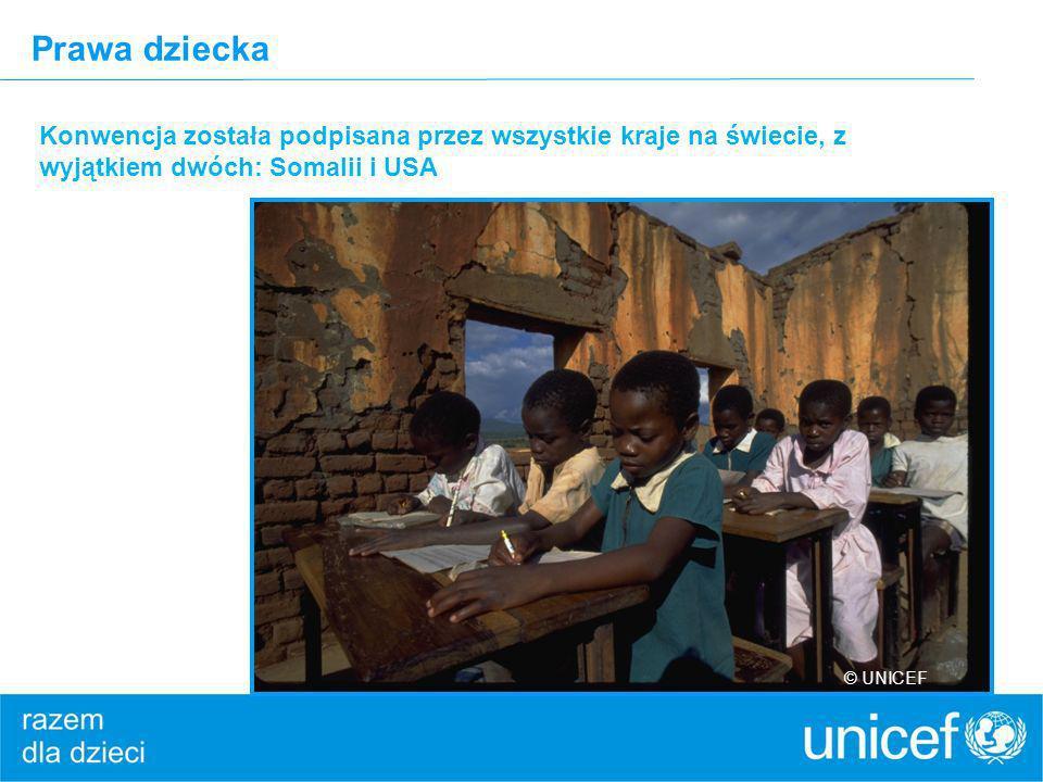 Prawa dziecka Konwencja została podpisana przez wszystkie kraje na świecie, z wyjątkiem dwóch: Somalii i USA.