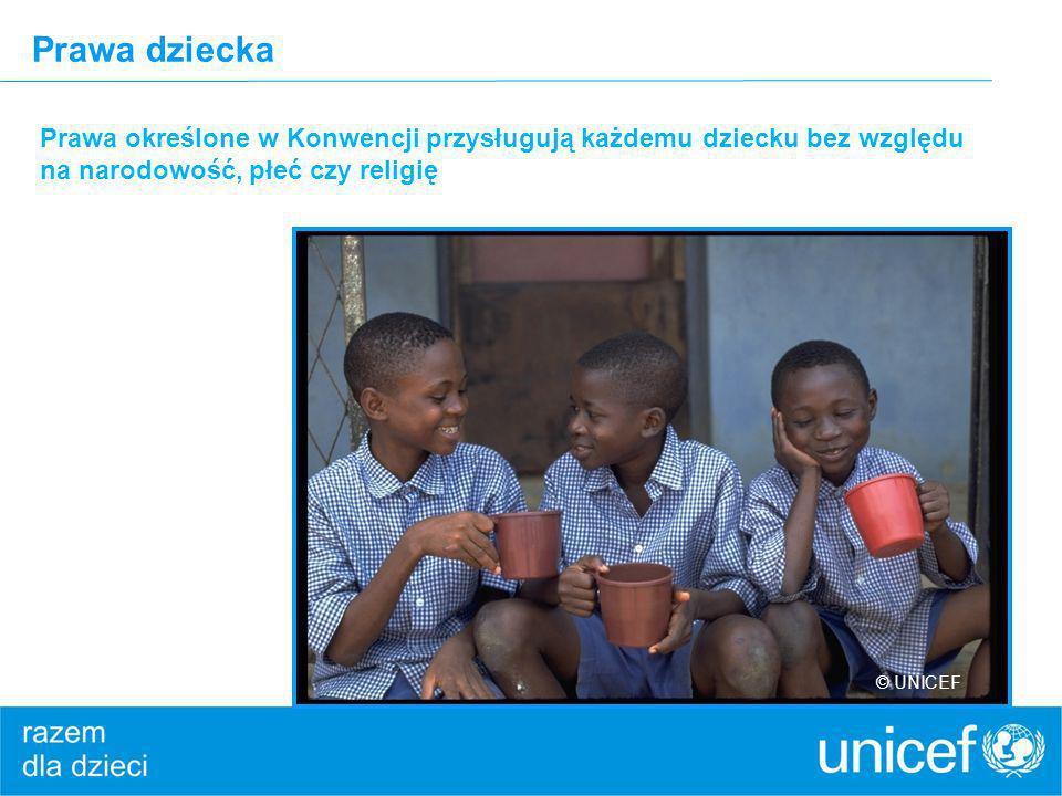 Prawa dziecka Prawa określone w Konwencji przysługują każdemu dziecku bez względu na narodowość, płeć czy religię.