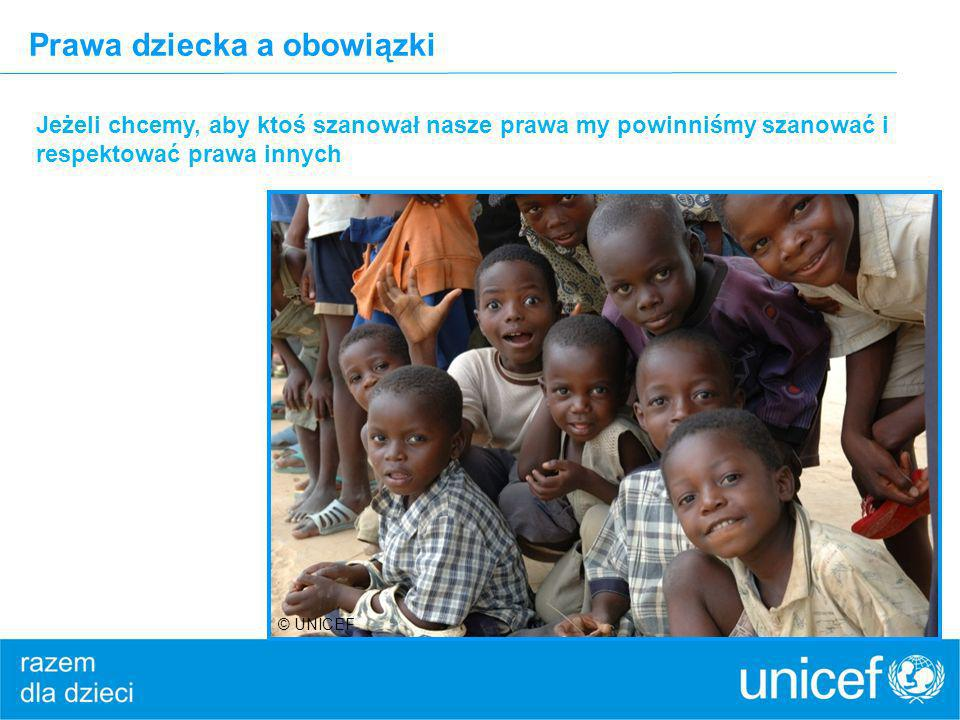 Prawa dziecka a obowiązki