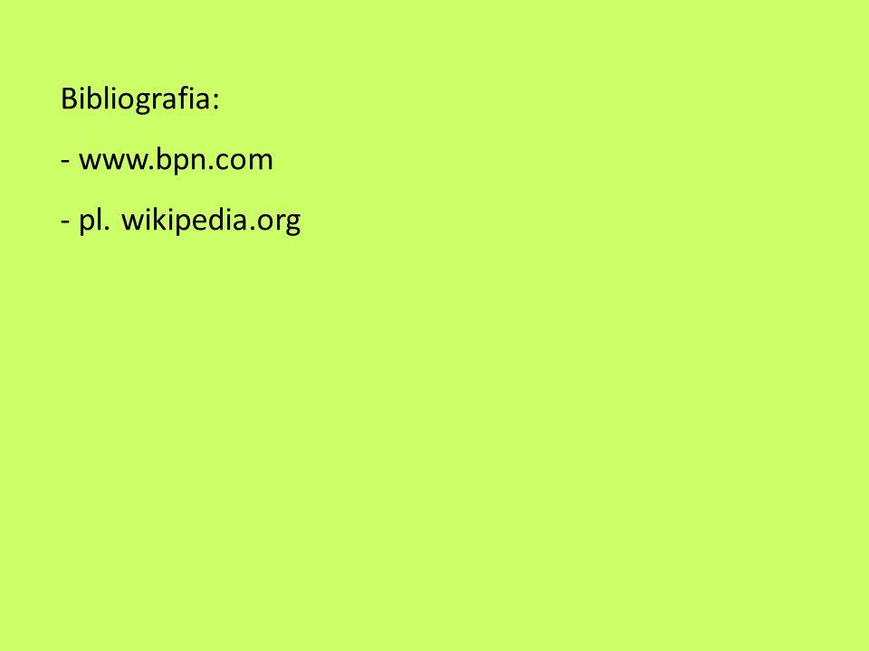 Bibliografia: www.bpn.com pl. wikipedia.org