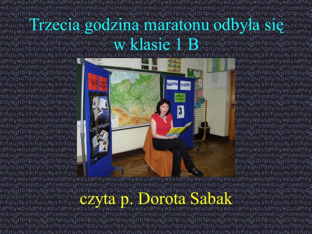 Trzecia godzina maratonu odbyła się w klasie 1 B