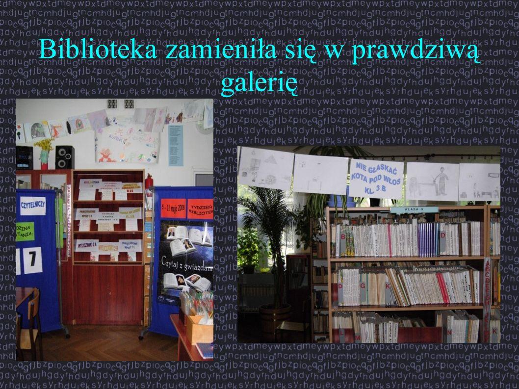Biblioteka zamieniła się w prawdziwą galerię