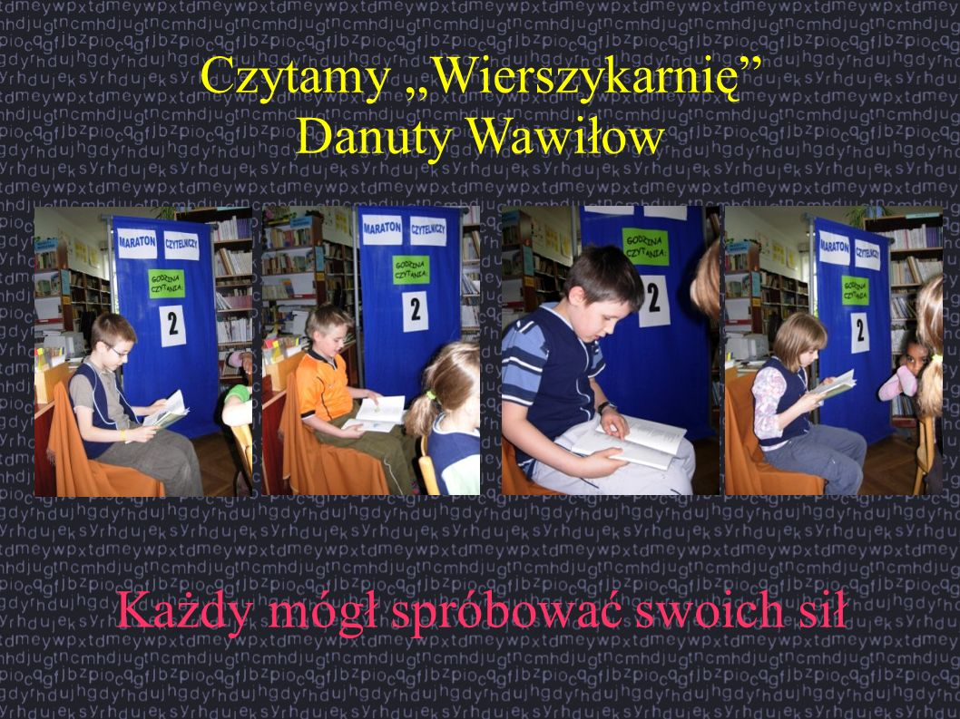"""Czytamy """"Wierszykarnię Danuty Wawiłow"""