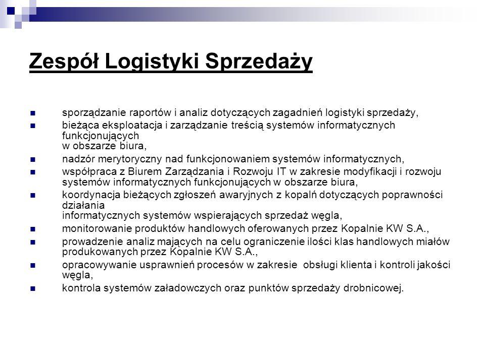 Zespół Logistyki Sprzedaży