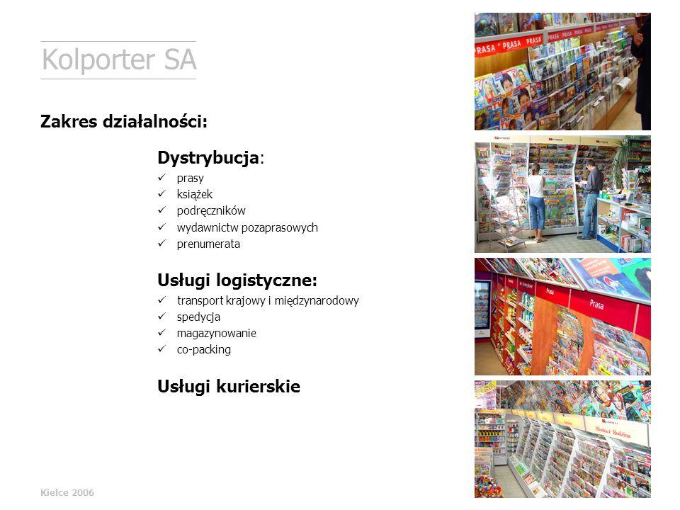 Kolporter SA Zakres działalności: Dystrybucja: Usługi logistyczne: