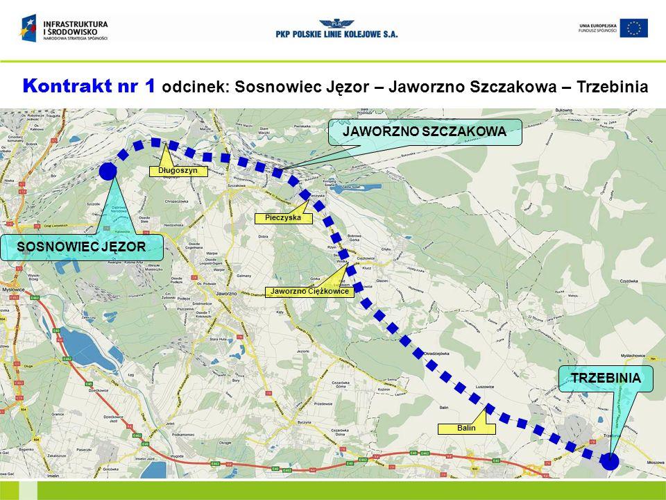Kontrakt nr 1 odcinek: Sosnowiec Jęzor – Jaworzno Szczakowa – Trzebinia