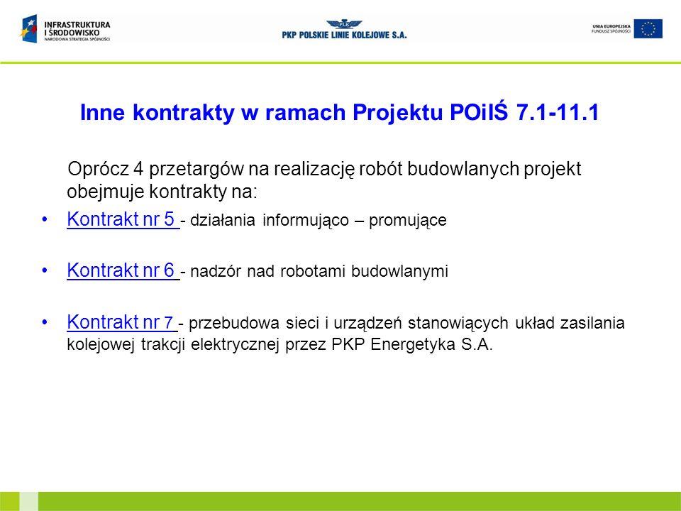 Inne kontrakty w ramach Projektu POiIŚ 7.1-11.1