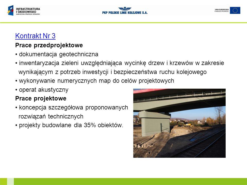 Kontrakt Nr 3 Prace przedprojektowe dokumentacja geotechniczna