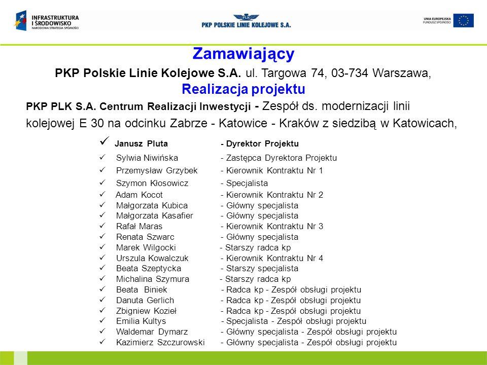 PKP Polskie Linie Kolejowe S.A. ul. Targowa 74, 03-734 Warszawa,