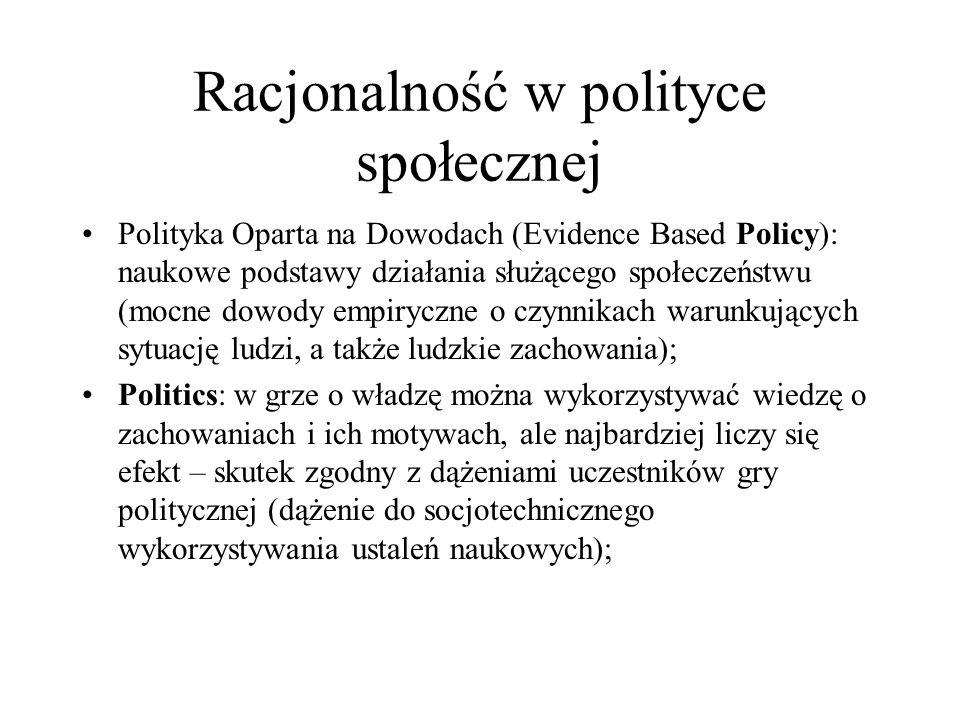 Racjonalność w polityce społecznej