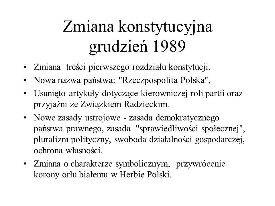 Zmiana konstytucyjna grudzień 1989