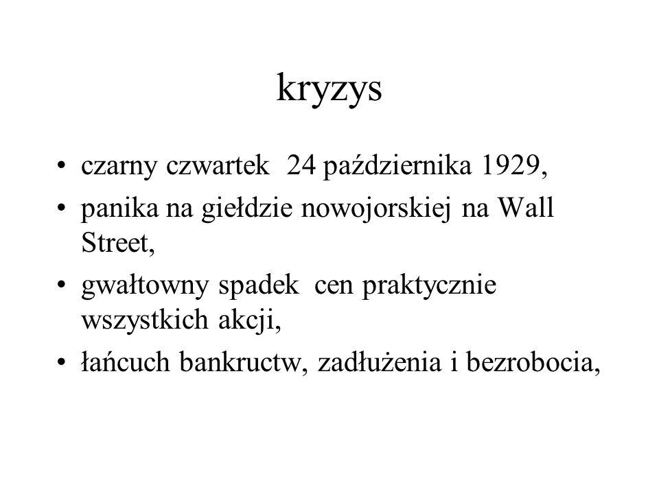 kryzys czarny czwartek 24 października 1929,