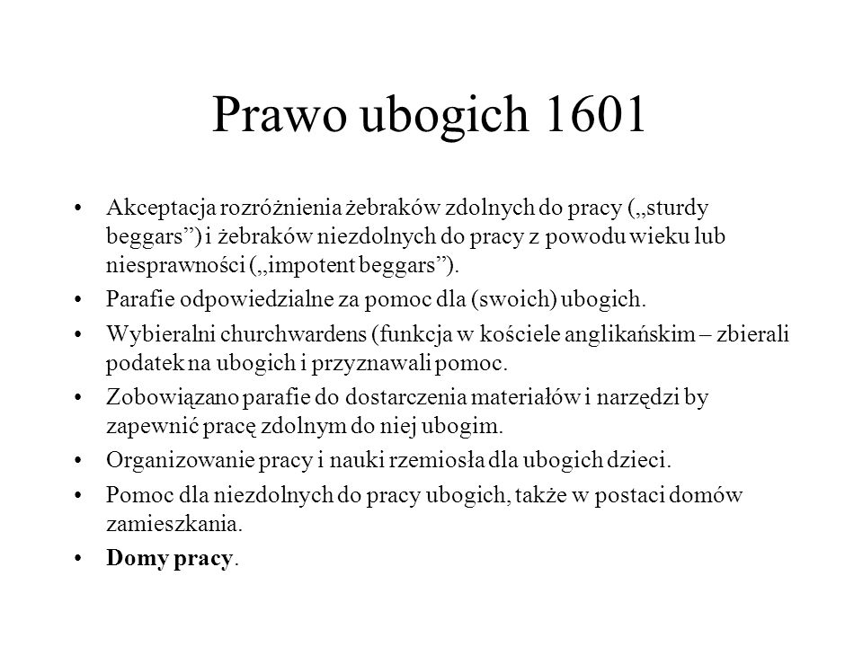 Prawo ubogich 1601