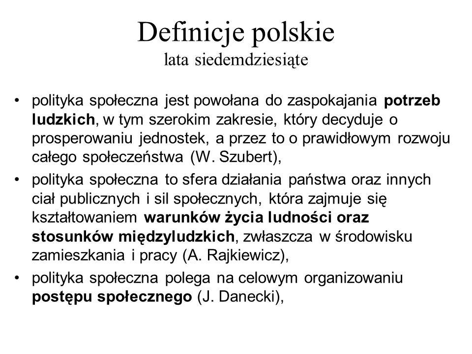 Definicje polskie lata siedemdziesiąte