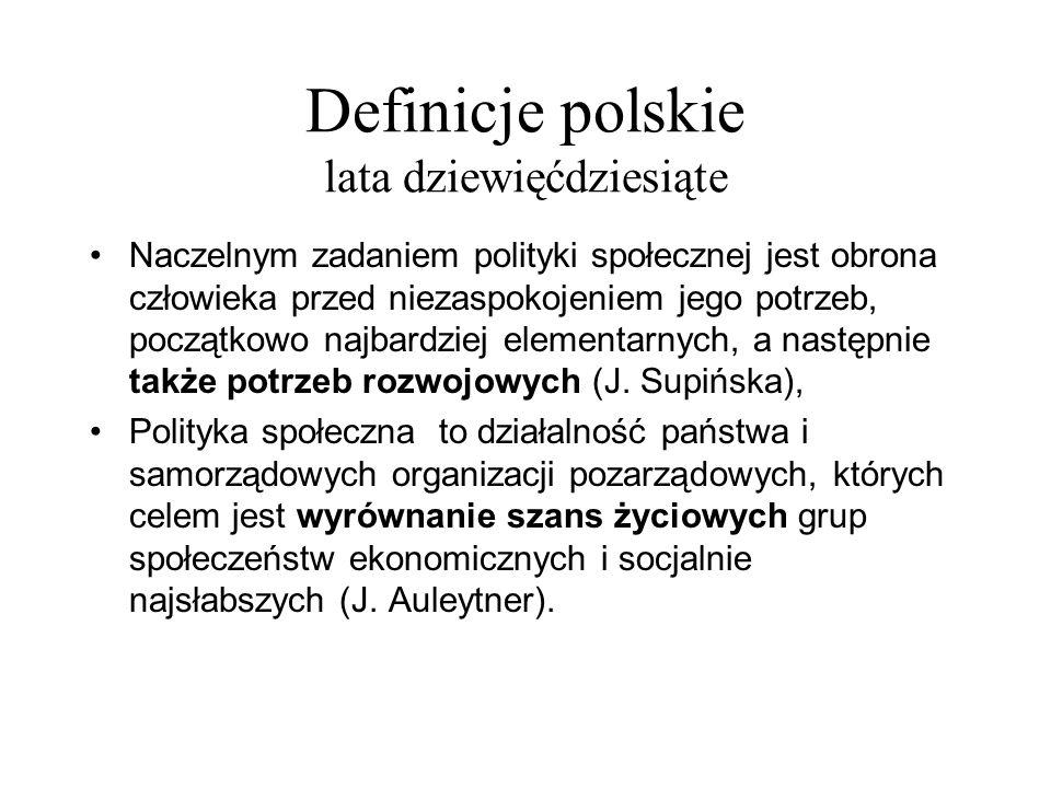 Definicje polskie lata dziewięćdziesiąte