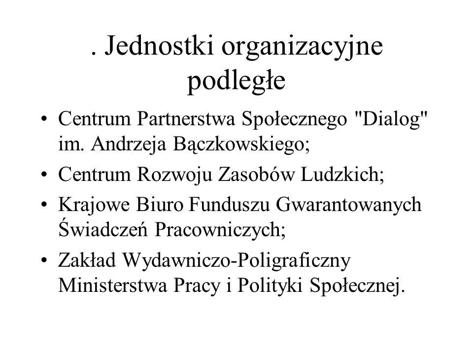 . Jednostki organizacyjne podległe